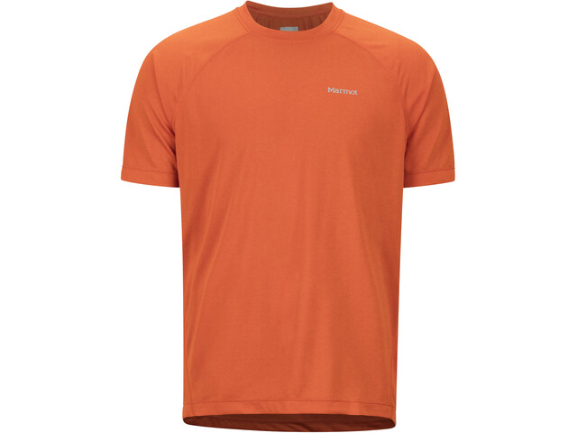 Marmot Accelerate Camisa Manga Corta Hombre, orange haze heather